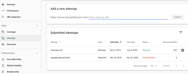 Google Search Console Sitemap Submit